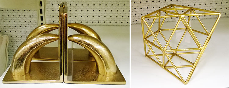 decor-suport-carti-auriu